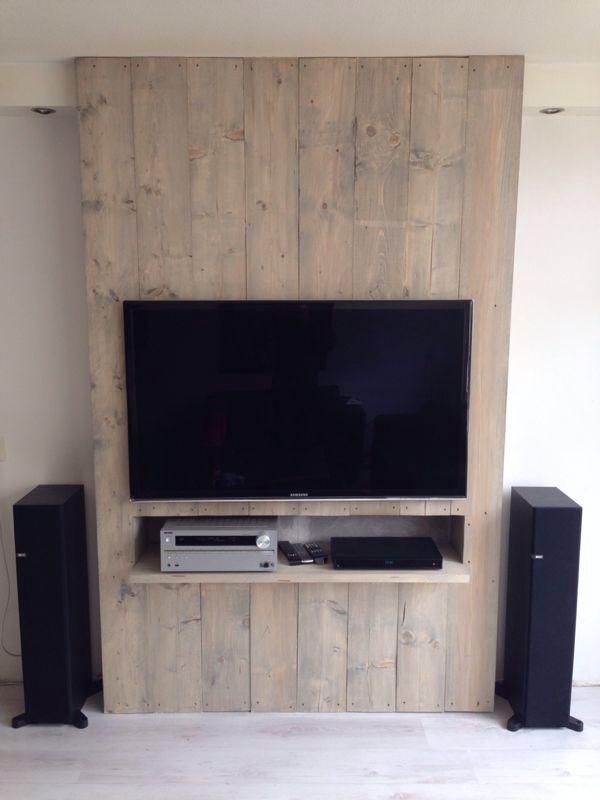 Steigerhouten tv meubel. Wil ik!!!