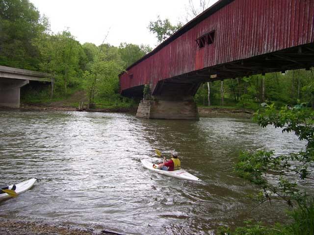 canoeing at turkey run state park