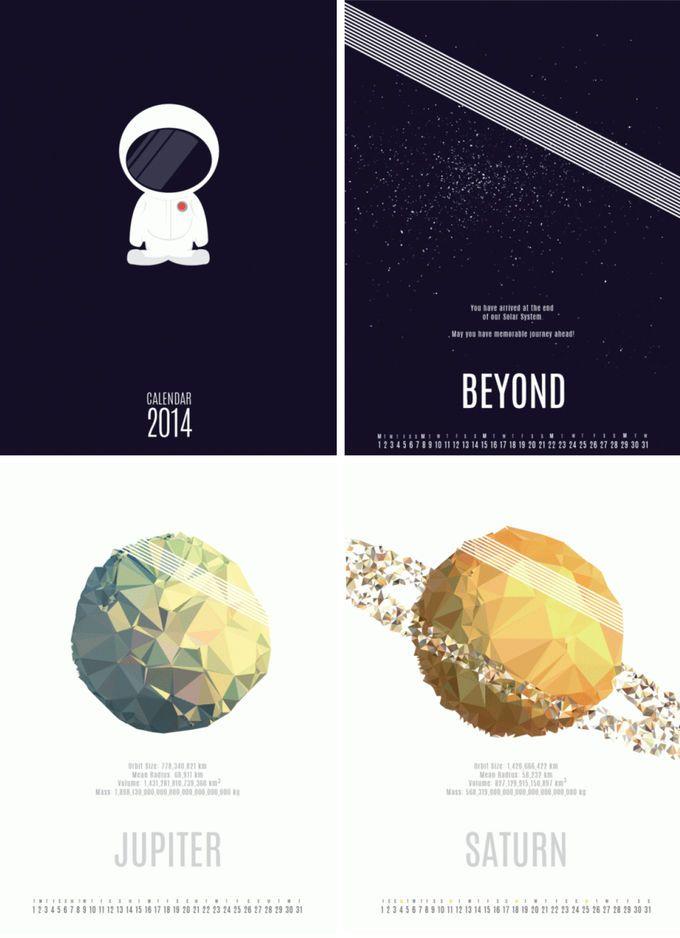 Calendario de Bianca Luyt, inspirado por la curiosidad de la artista hacia el universo. Es un reflejo de nuestro sistema solar en el que ha ...