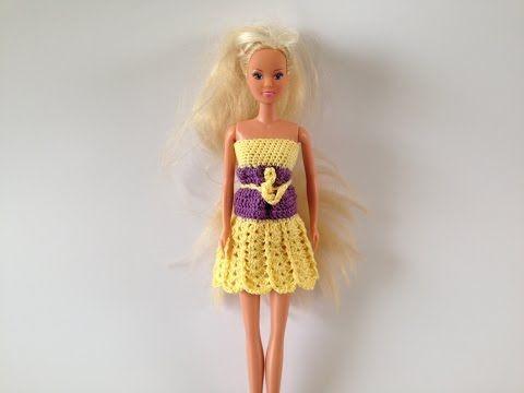 how to crochet barbie dress motif 2 - YouTube