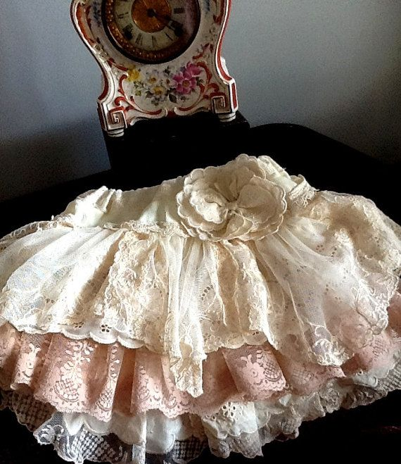Vintage embroidered lace and eyelet flower girl by Babybonbons, $69.00