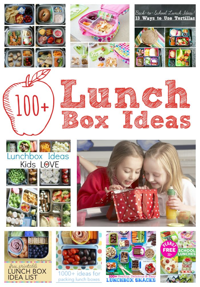 Lunch box ideas for kids from Pinterest featured at The Educators' Spin On It