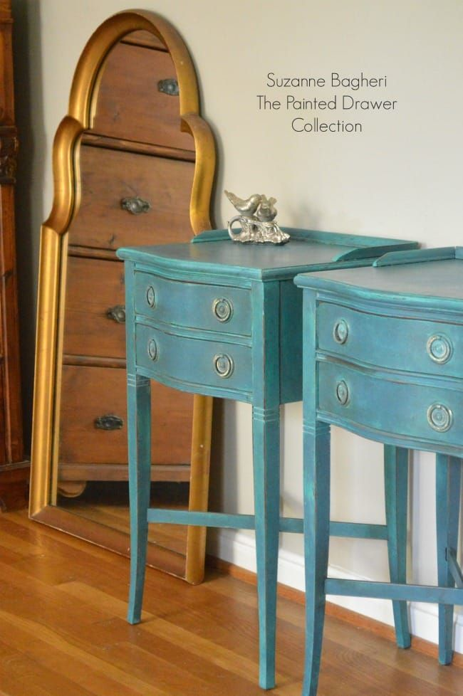Florence Tables Before And After Painted Furniture Annie Sloan Chalk Paint Painted Drawers