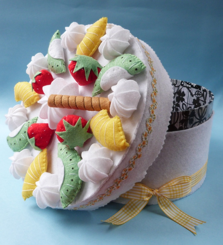 Beautiful Fruit Cake Images : The 35 best images about ? Felt Boxes ? on Pinterest ...