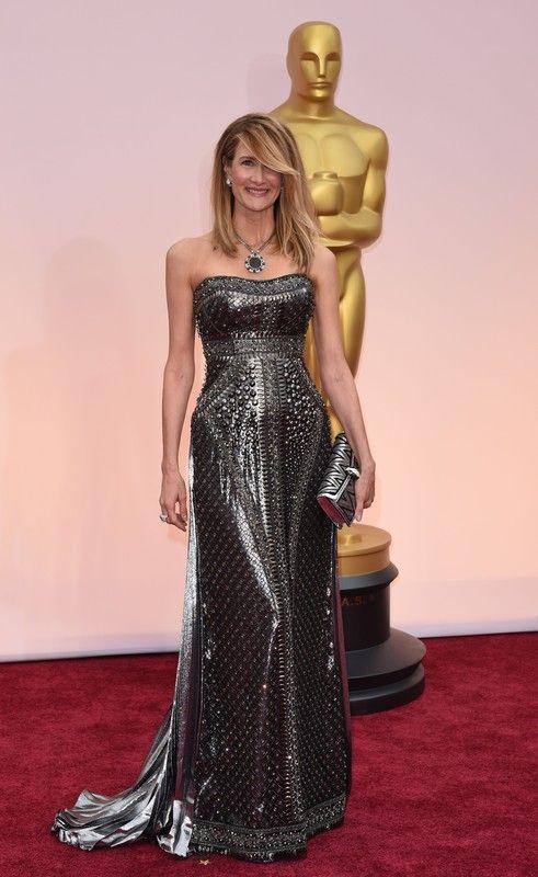 Oscary 2015: Laura Dern w sukni Alberta Ferretti, fot. East News