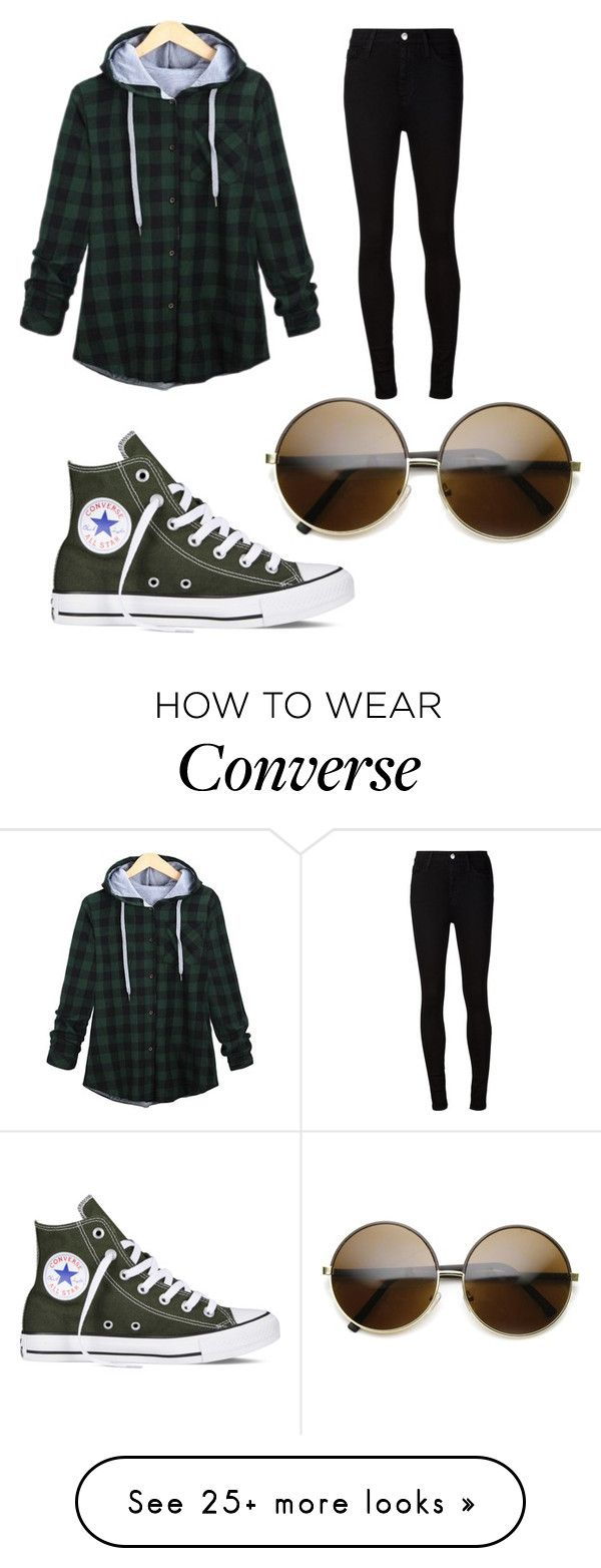 """Untitled #280"" by one-528 on Polyvore featuring AG Adriano Goldschmied, Converse, women's clothing, women's fashion, women, female, woman, misses and juniors"