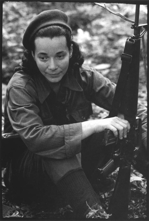 Nicaraguan guerrilla and later politician Nora Astorga. Photo by Pedro Meyer.