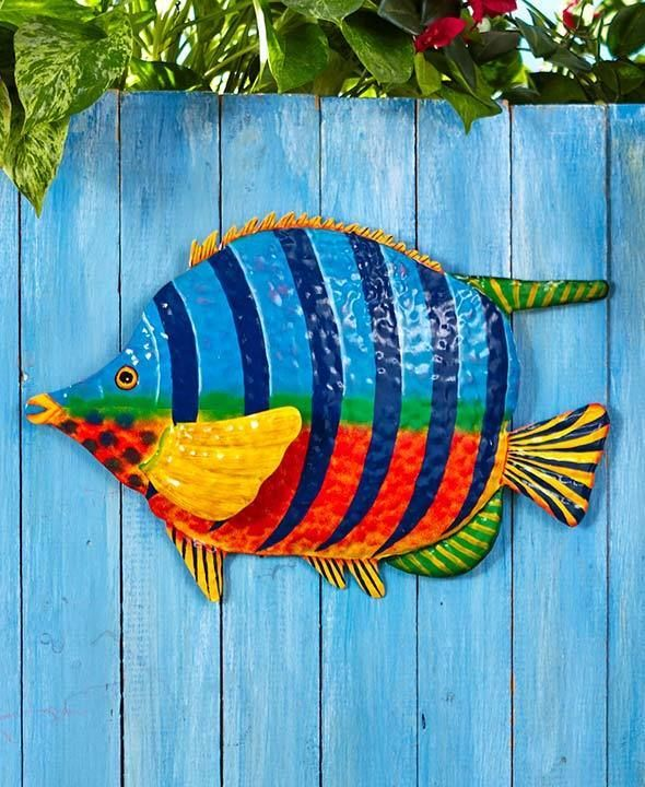 House Decoration Craft Kissing Fish Home Furnishings: 25+ Best Ideas About Outdoor Metal Wall Art On Pinterest