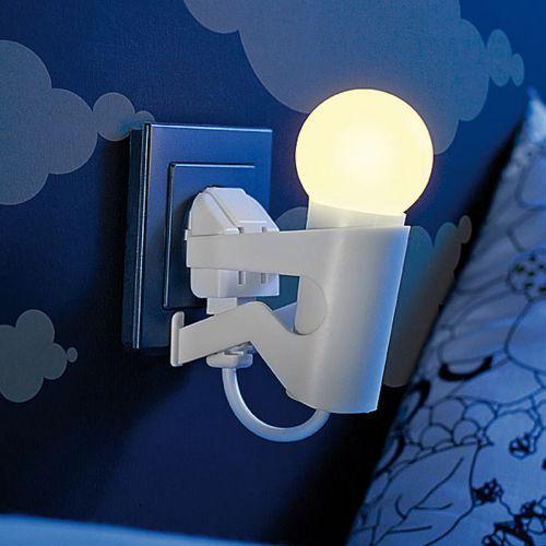 Unser LED Nachtlicht beleuchtet Dir den Weg im Dunkeln und stört Dich nicht beim Einschlafen - in lustiger Form als kleines Männchen mit leuchtendem Kopf!