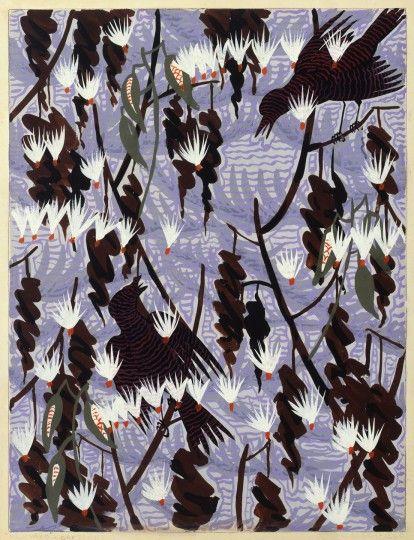 Charles E. Burchfield (1893-1967), Milkweed, 1929; gouache with charcoal on paper   Burchfield Penney Art Center, Buffalo New York