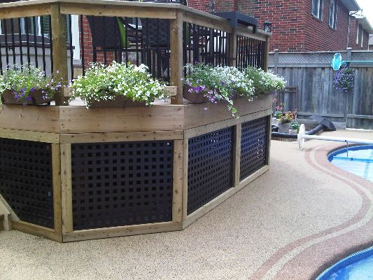 Deck Skirting Black Square Decks Pinterest Lattice