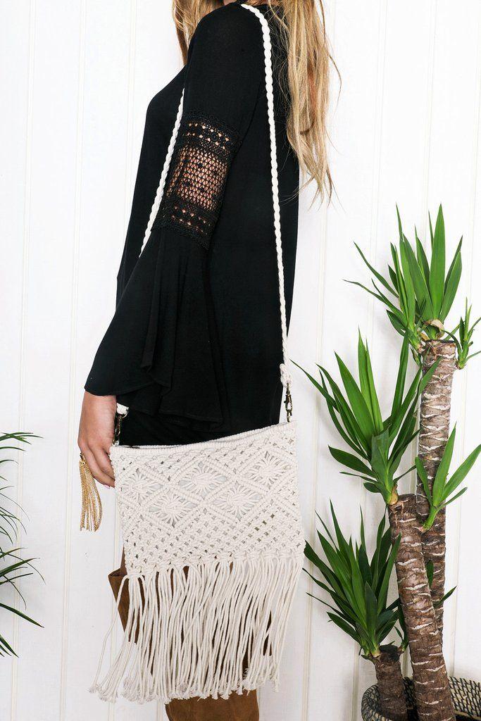Linda Crochet Fringe Handbag – Haute & Rebellious