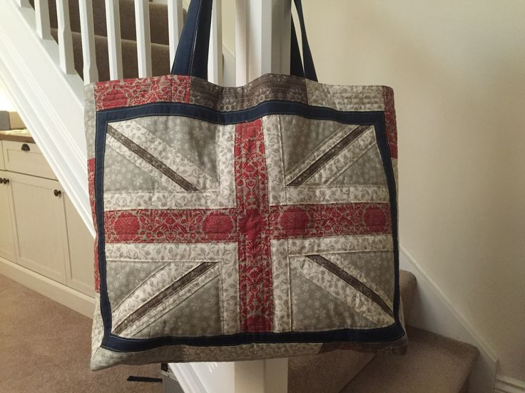 Jubilee Jacks pattern by Stuart Hillard, made up into a large tote.  Smug level quite high with this result!