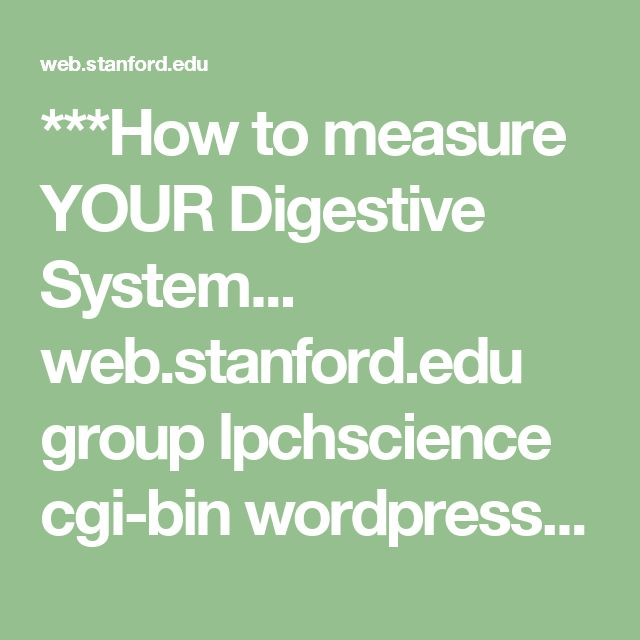 ***How to measure YOUR Digestive System... web.stanford.edu group lpchscience cgi-bin wordpress images Digestive-System-TA.pdf