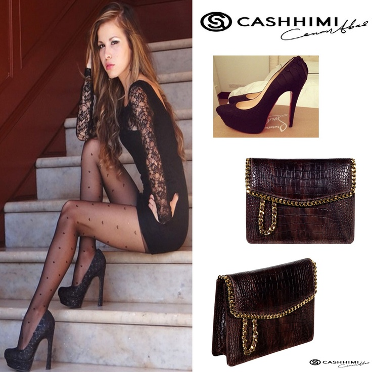 Cashhimi Brown Barrow Leather Clutch.