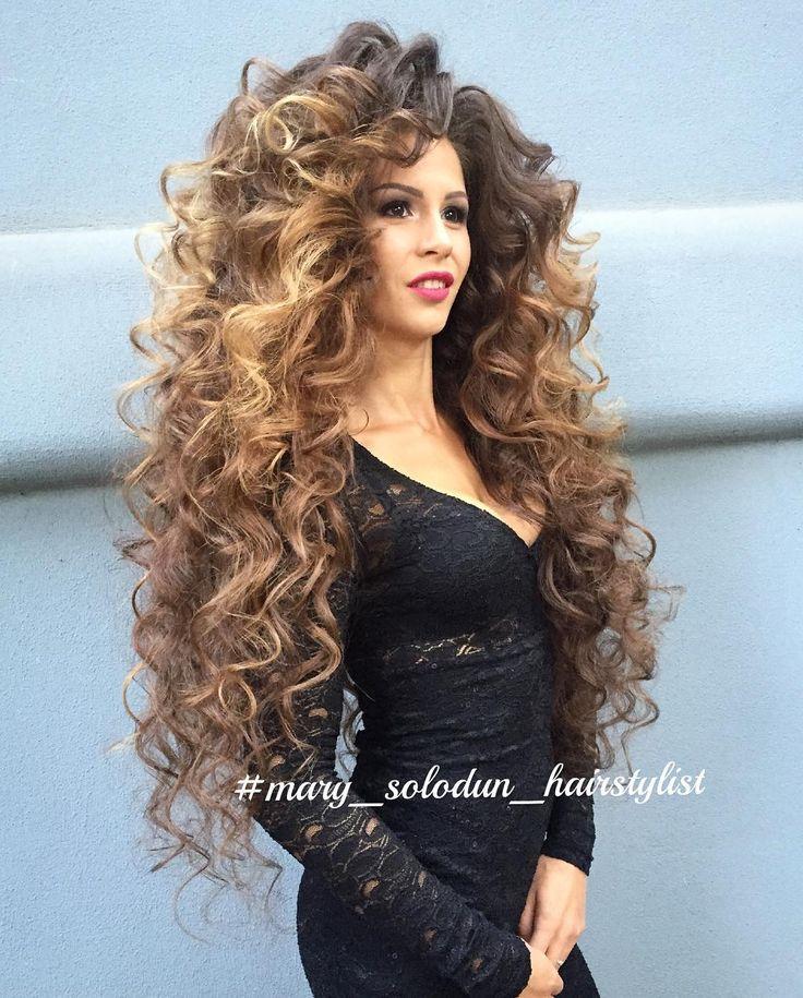 Teased Hair, Big Hair, Curly Hair, Long Wavy Hair, Super Long Hair, Long  Curly, Long Locks, Amazing Hair, Gorgeous Hair