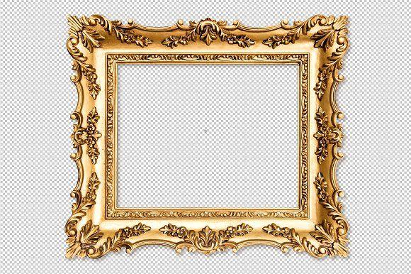 Baroque Golden Picture Frame Png Picture Frames Baroque Frames Frame