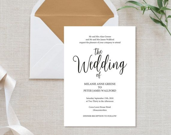 20 best Wedding Invitation Templates images on Pinterest