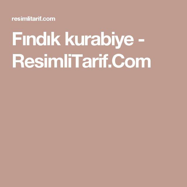 Fındık kurabiye - ResimliTarif.Com