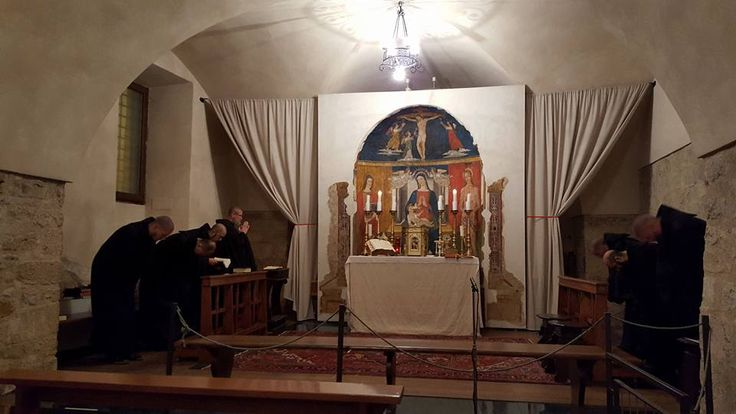 Started the morning with Lauds sung by the Monks of Norcia / Monaci di Norcia