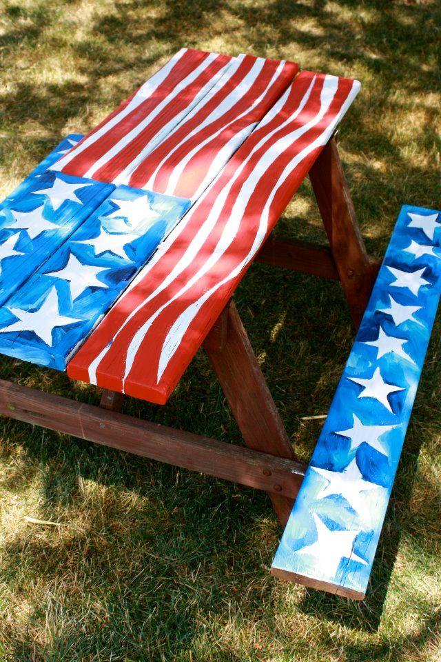 patriotic picnic table