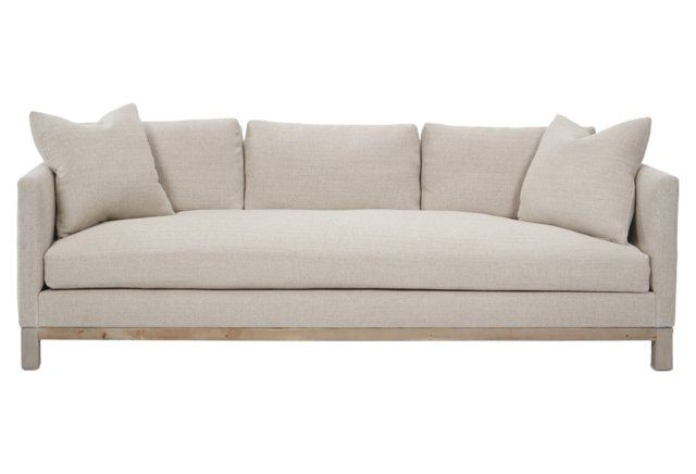 Sofa with 3 back pillows, 2 throw pillow