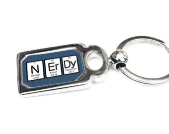 Nerdy Gift - periodic table of elements Key Chain Science Chemistry Gift