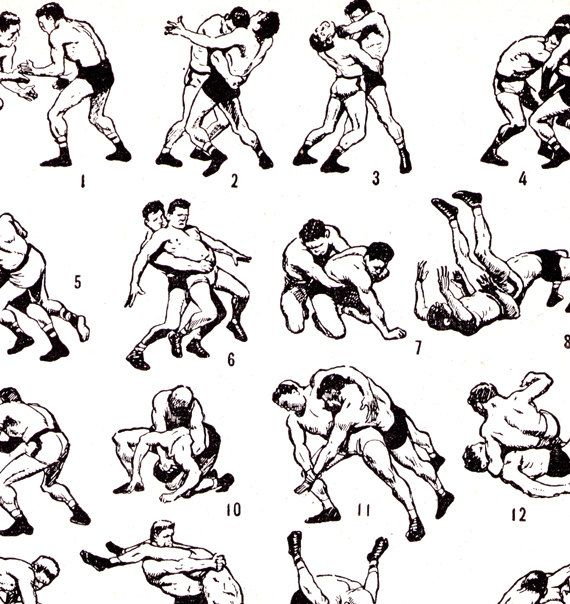 Greco Roman Wrestling French dictionary plate Instant