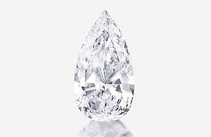Pear-shaped diamond sets record at Sotheby's
