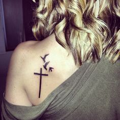 cross tattoo for womans shoulder - Google Search