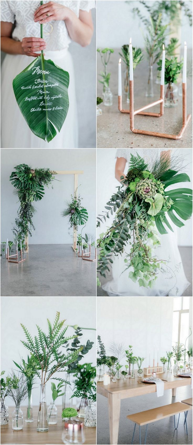 369 best images about wedding table decor on pinterest for Wedding greenery ideas