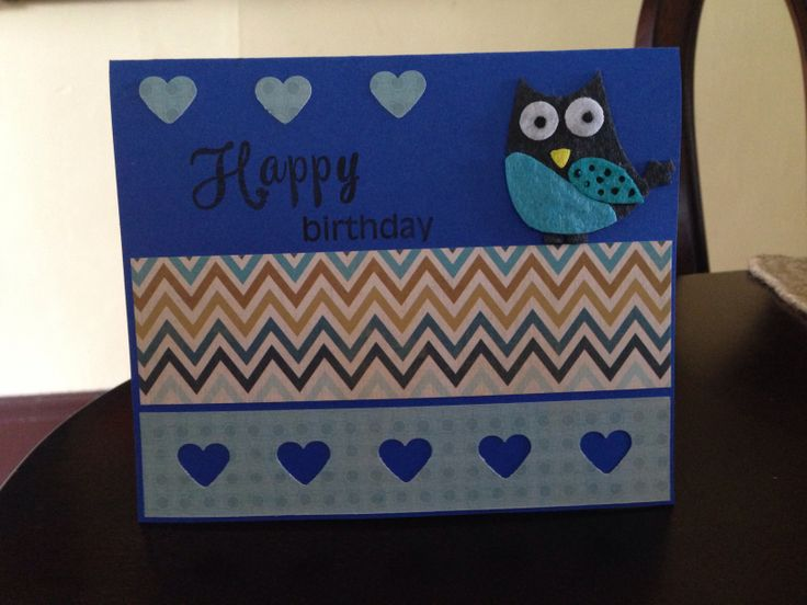 Birthday blue owl