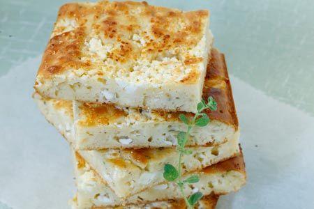 Kasopita - easy feta cheese pie without phillo