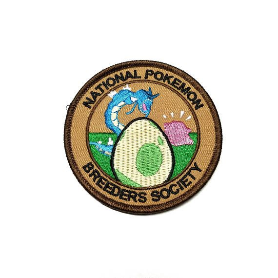 National Pokemon Breeders Society Pokemon Inspired Patch | Hand Made Patch | Pokemon Patch