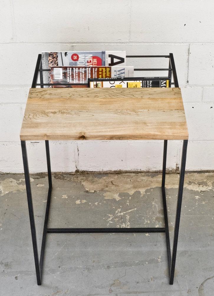 Zine Table - Salvaged Maple & Steel. $250.00, via Etsy.