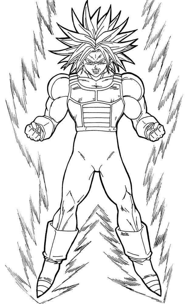 Imágenes De Goku Y Sus Transformaciones Para Colorear
