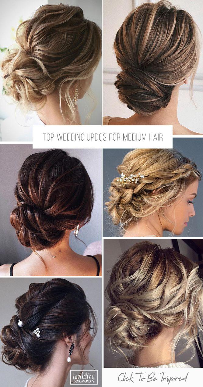 Top 30 Ideas Of Wedding Updos For Medium Hair   Wedding Forward in 2020    Up dos for medium hair, Wedding hairstyles, Medium hair styles
