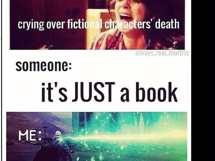 The only book deaths (Harry Potter, of course) I cried about was Cedric and Dobby. I BALLED at Harry's.