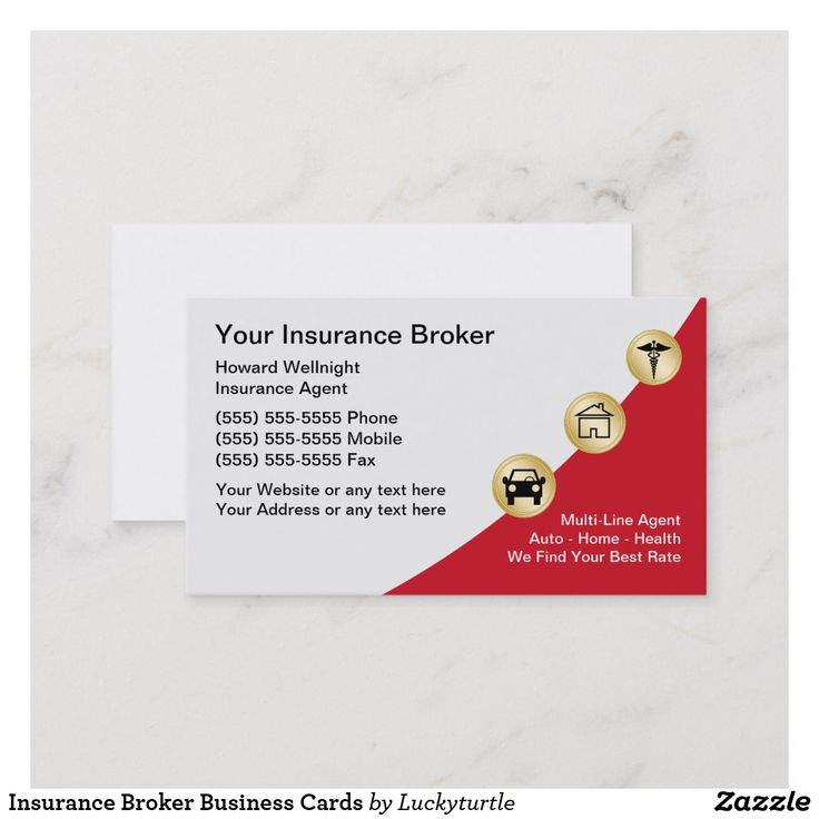 Insurance Broker Business Cards | Zazzle.com | Insurance ...