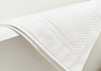 Set of 3 Mini Squares Bath Mats in White design by Turkish Towel Company