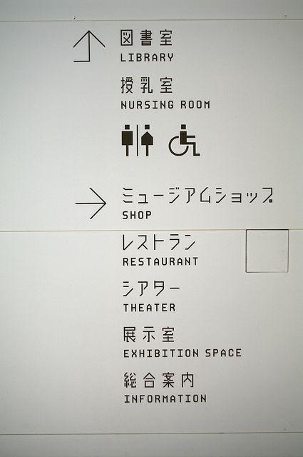 Original Typography of Aomori Museum of Art by Atsuki Kikuchi