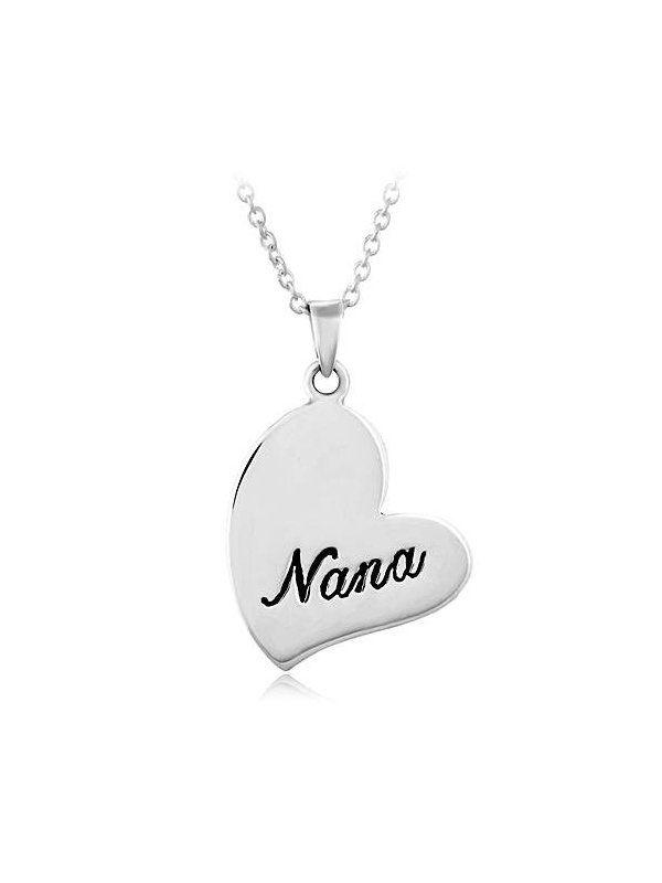 """Chuvora .925 Sterling Silver """"Nana"""" Hear"""