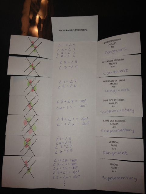 Coefficients of Determination: Transversal & Angles Formed with Foldables and Graphic Organizer