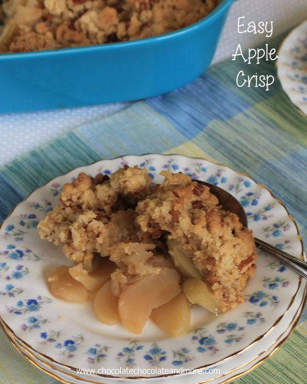 This Quick Apple Crisp is so easy to make and the family loves it. I always keep a box of yellow cake mix in the cabinet just for this recip...