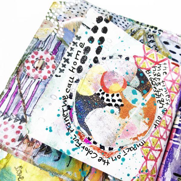 "Art Marks Part 1 - Rae Missigman - Art Journal - Day 18 - ""Circular"" #artmarks30daychallenge art journal, art journaling, mixed media"