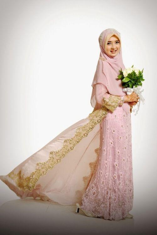Model Kebaya Pengantin Muslimah Simple Modern