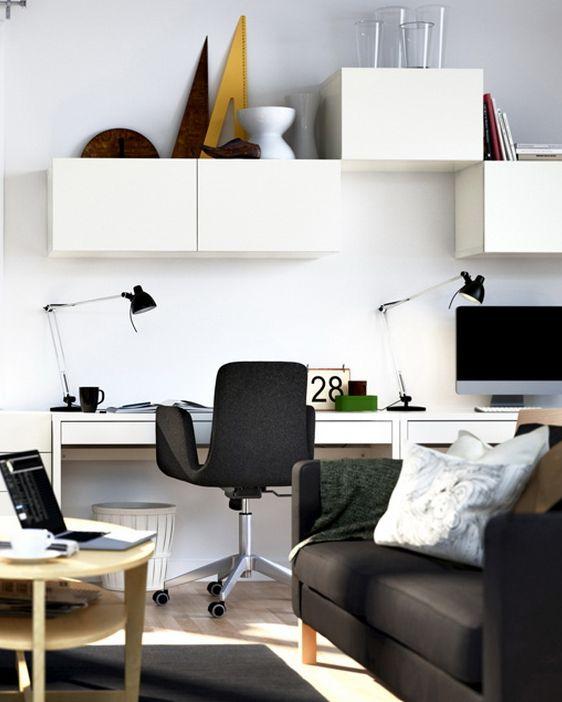 リビングおしゃれなパソコンスペースレイアウト配置画像 | Interior ... リビングルームにパソコンルーム