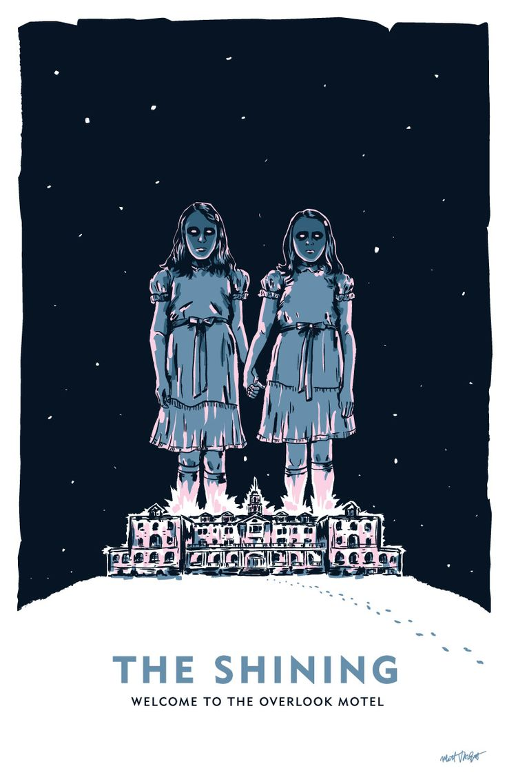 The Shining Overlook Motel creepy twins illustration by Matt Talbot