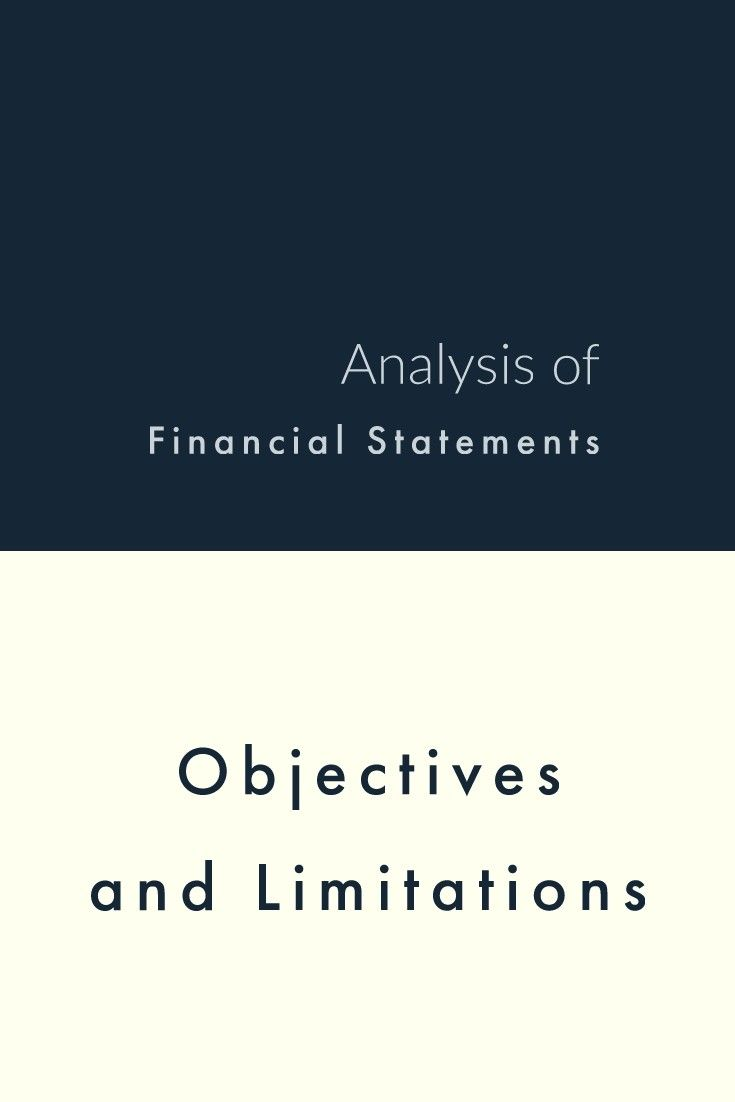 limitations of financial statement analysis