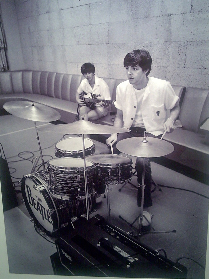paul on drums & ringo